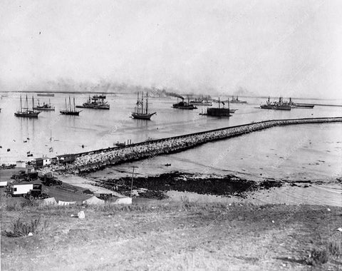1925 historic Hollywood Los Angeles Harbor breakwater view 3201-34