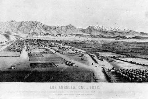 1873 historic Los Angeles Hollywood orange groves and farms 3201-36
