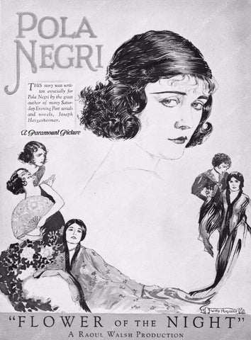 ad slick Pola Negri Flower of the Night 3239-27