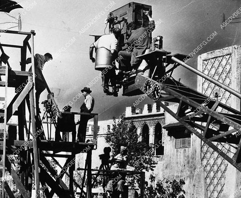20th Century Fox Studios backlot crane and camera for Arabian set 3517-08