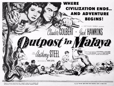 ad slick Claudette Colbert Outpost in Malaya 3575-02