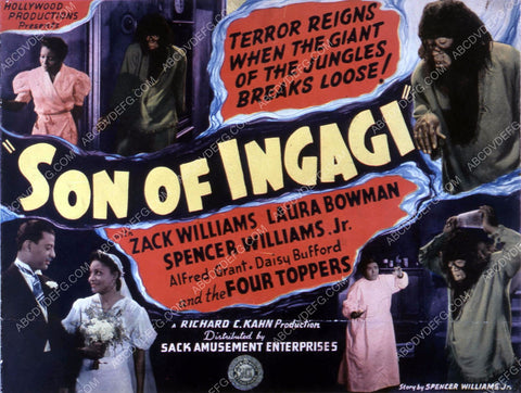 Zack Williams Laura Bowman Spencer Williams all black cast Son of Ingagi 35m-10333