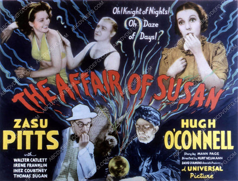 Zasu Pitts Hugh O'Connell Irene Franklin film The Affair of Susan 35m-10645