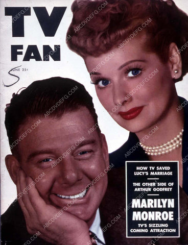Arthur Godfrey Lucille Ball TV Fan magazine cover 35m-13823