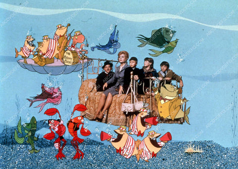 animated characters Angela Lansbury w the kids film Bedknobs and Broomsticks 35m-14113