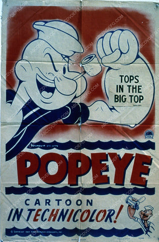 animated Popeye film poster 35m-1926