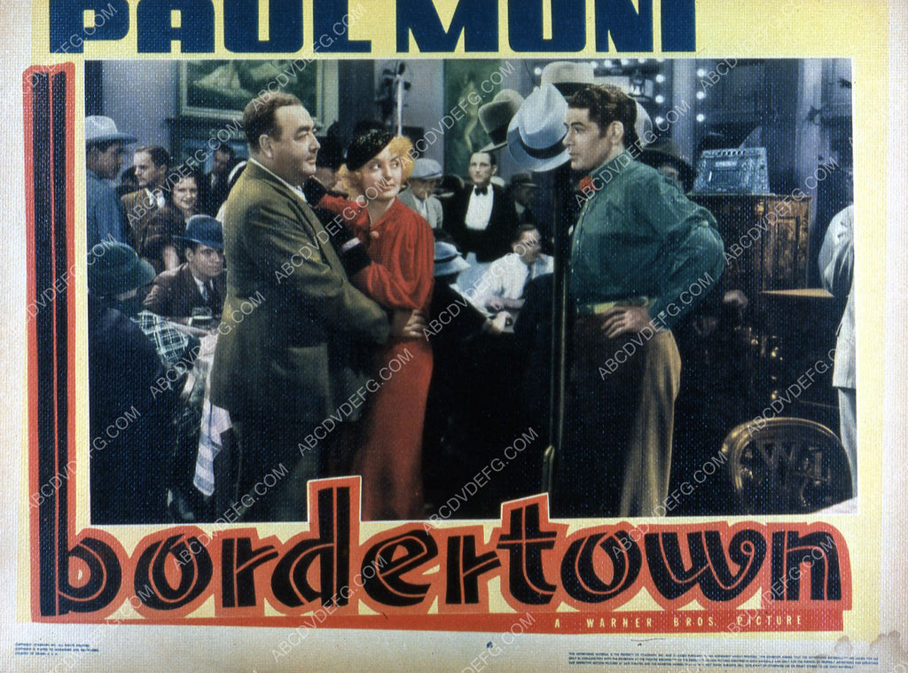 Paul Muni Eugene Pallette Bette Davis Film Bordertown 35m 2595