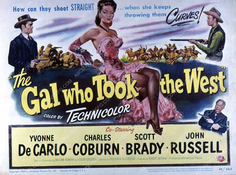Yvonne De Carlo film The Gal Who Took the West 35m-2658