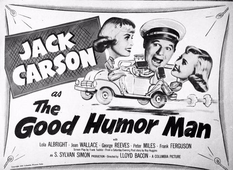 ad slick Jack Carson The Good Humor Man 3701-02