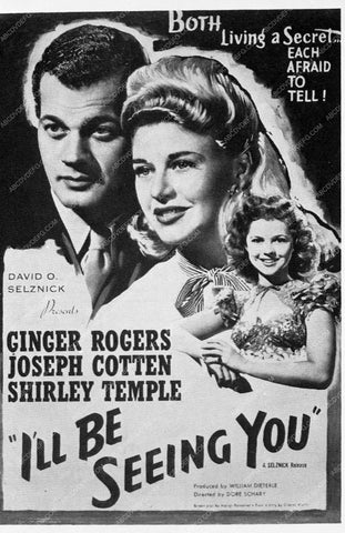 ad slick Ginger Rogers I'll Be Seeing You 3701-08