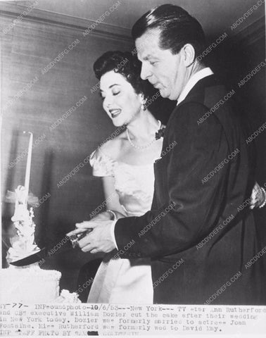 An Rutherford and William Dozier wedding cake 3993-35