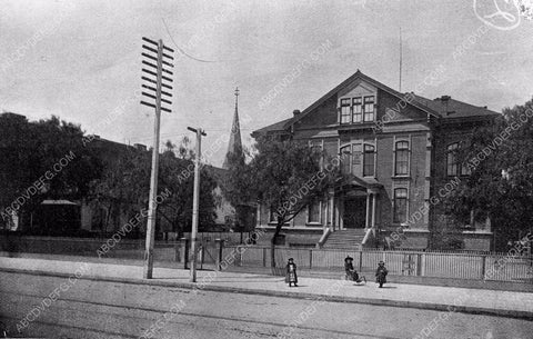 1884 historic Los Angeles Spring St/ Broadway School Mercantile Place 4b09-055