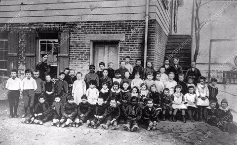 1884 historic Los Angeles Spring St/ Broadway School Mercantile Place 4b09-056