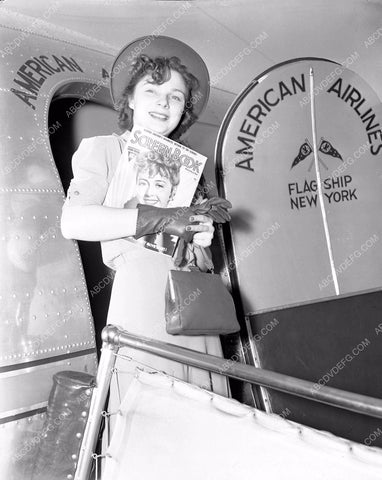 1938 aviation American Airlines contest winner Miss O'Niel 4b09-274
