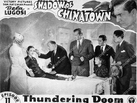 Bruce Bennett Joan Barclay and cast serial film Shadow of Chinatown 5096-17