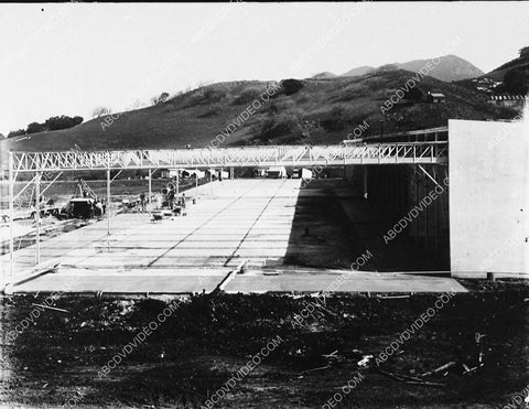 1915 historic Los Angeles Hollywood Universal Studios being built (the first stage) 5416-27