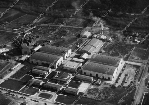 1927 historic Los Angeles Hollywood First National Studios aerial view 5416-35