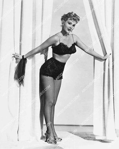 Zsa Zsa Gabor in lingerie and fishnets 5596-034