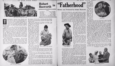 1915 ad slick Hobart Bosworth silent film Fatherhood 6272-29