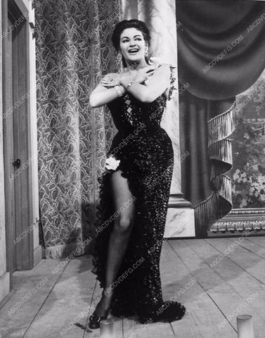 Yvonne DeCarlo in sexy gown leg 8641-08
