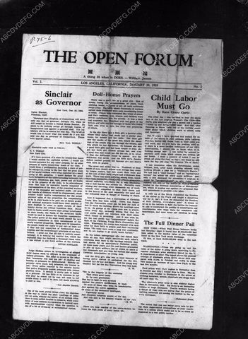 1925 Los Angeles newspaper The Open Forum 8b4-100