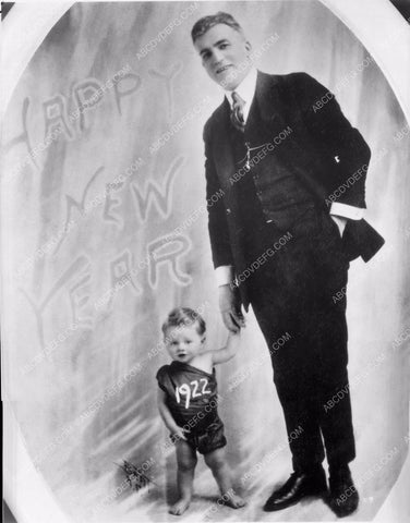 1922 baby Mickey Rooney helps bring in the New Year 8b4-680