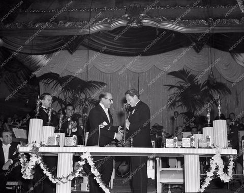 1938 Oscars Spencer Tracy getting Academy Award aa1938-01</br>Los Angeles Newspaper press pit reprints from original 4x5 negatives for Academy Awards.