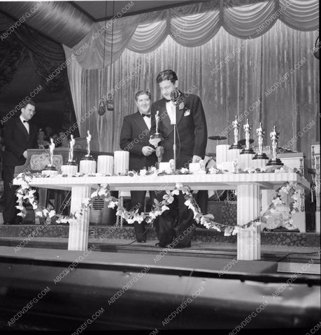 1940 Oscars Preston Sturges receiving his Academy Award aa1940-06</br>Los Angeles Newspaper press pit reprints from original 4x5 negatives for Academy Awards.
