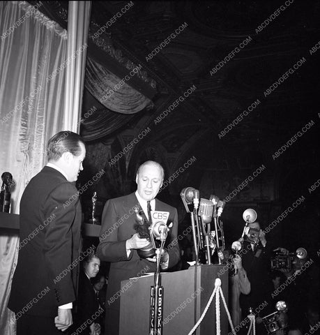 1941 Oscars Bob Hope Jack Benny on stage Academy Awards aa1941-02</br>Los Angeles Newspaper press pit reprints from original 4x5 negatives for Academy Awards.