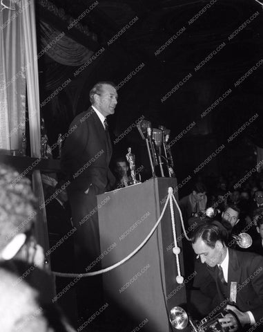 1941 Oscars Gary Cooper and the press Academy Awards aa1941-22</br>Los Angeles Newspaper press pit reprints from original 4x5 negatives for Academy Awards.