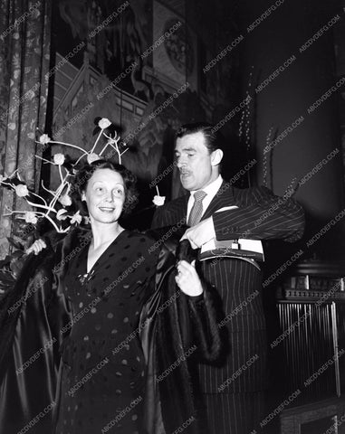 1943 Oscars Walter Pidgeon and his wife maybe Academy Awards aa1943-06</br>Los Angeles Newspaper press pit reprints from original 4x5 negatives for Academy Awards.