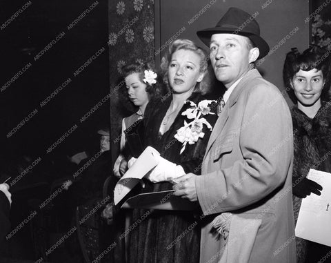 1944 Oscars Bing Crosby and wife maybe Academy Awards aa1944-21</br>Los Angeles Newspaper press pit reprints from original 4x5 negatives for Academy Awards.