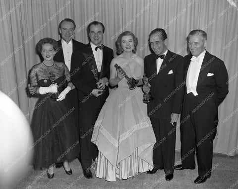 1951 Oscars George Sanders Greer Garson Humphrey Bogart Ronald Colman aa1945-06</br>Los Angeles Newspaper press pit reprints from original 4x5 negatives for Academy Awards.