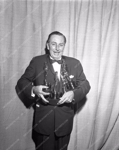 1945 Oscars Walt Disney ready to tip over Academy Awards aa1945-07</br>Los Angeles Newspaper press pit reprints from original 4x5 negatives for Academy Awards.