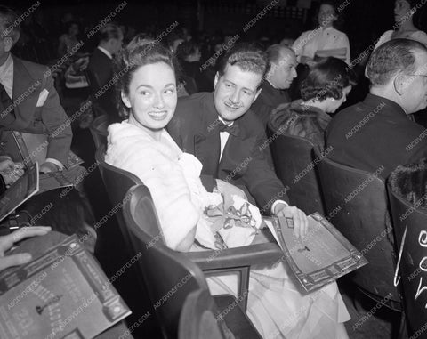 1947 Oscars Anne Revere and date Academy Awards aa1947-07</br>Los Angeles Newspaper press pit reprints from original 4x5 negatives for Academy Awards.