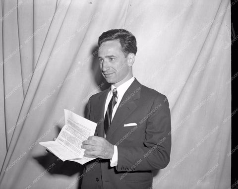 1947 Oscars Elia Kazan backstage Academy Awards aa1947-29</br>Los Angeles Newspaper press pit reprints from original 4x5 negatives for Academy Awards.