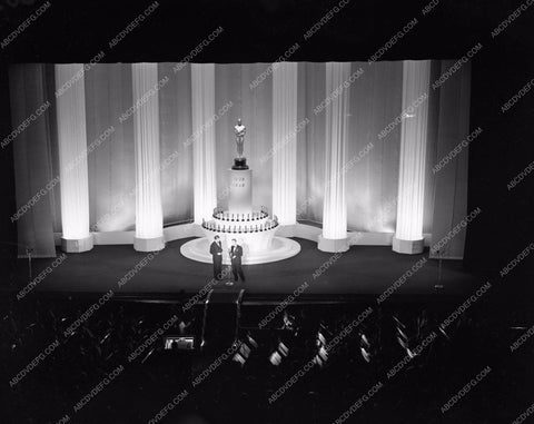 1947 Oscars stage shot of ceremonies Academy Awards aa1947-32</br>Los Angeles Newspaper press pit reprints from original 4x5 negatives for Academy Awards.