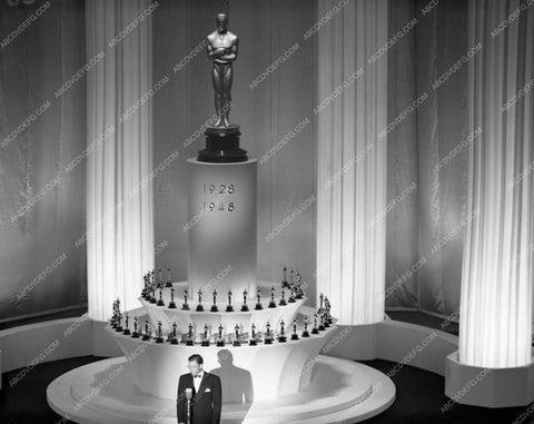 1947 Oscars stage shot of ceremonies Academy Awards aa1947-33</br>Los Angeles Newspaper press pit reprints from original 4x5 negatives for Academy Awards.