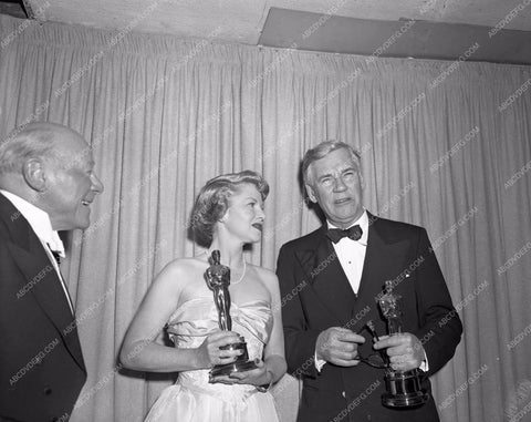 1948 Oscars Edmund Gwenn Claire Trevor John Huston aa1948-13</br>Los Angeles Newspaper press pit reprints from original 4x5 negatives for Academy Awards.