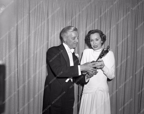 1948 Oscars Ronald Colman Jane Wyman Academy Awards aa1948-15</br>Los Angeles Newspaper press pit reprints from original 4x5 negatives for Academy Awards.