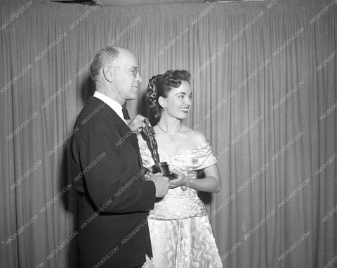 1948 Oscars Ann Blyth presenting Academy Awards aa1948-26</br>Los Angeles Newspaper press pit reprints from original 4x5 negatives for Academy Awards.