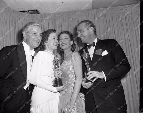 1949 Oscars Ronald Colman Loretta Young Jane Wyman aa1949-114</br>Los Angeles Newspaper press pit reprints from original 4x5 negatives for Academy Awards.