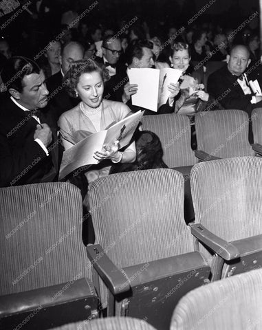 1949 Oscars Robert Taylor Barbara Stanwyck Academy aa1949-129</br>Los Angeles Newspaper press pit reprints from original 4x5 negatives for Academy Awards.