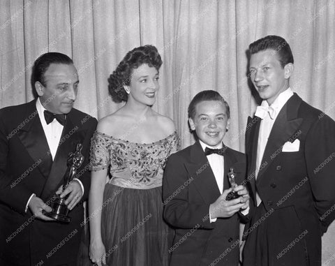 1949 Oscars Donald O'Connor Bobby Driscoll Academy Awards aa1949-16</br>Los Angeles Newspaper press pit reprints from original 4x5 negatives for Academy Awards.