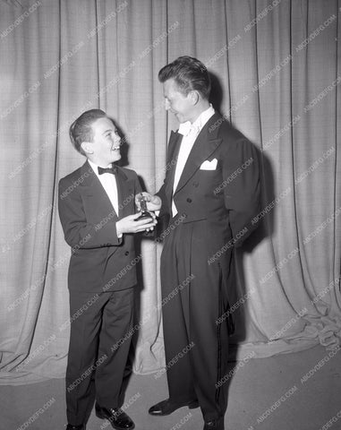 1949 Oscars Donald O'Connor Bobby Driscoll Academy Awards aa1949-19</br>Los Angeles Newspaper press pit reprints from original 4x5 negatives for Academy Awards.