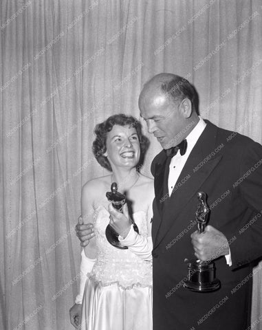 1949 Oscars Mercedes McCambridge Dean Jagger Academy Awards aa1949-42</br>Los Angeles Newspaper press pit reprints from original 4x5 negatives for Academy Awards.