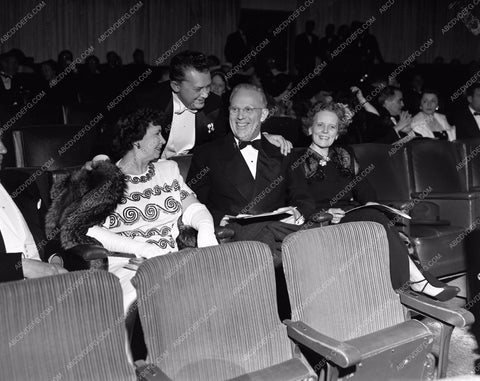 1949 Oscars Jean Hersholt greets friends Academy Awards aa1949-50</br>Los Angeles Newspaper press pit reprints from original 4x5 negatives for Academy Awards.