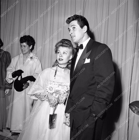 1949 Oscars Rock Hudson and Vera Ellen Academy Awards aa1949-59</br>Los Angeles Newspaper press pit reprints from original 4x5 negatives for Academy Awards.