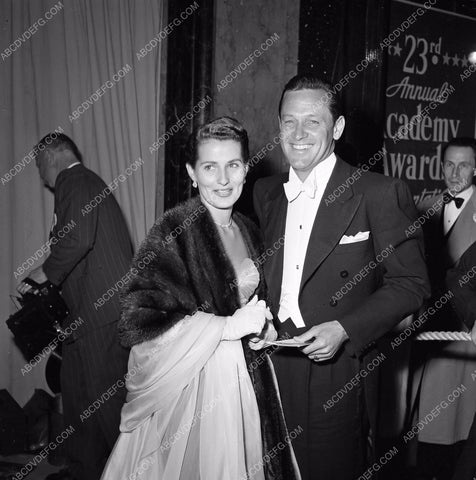 1949 Oscars William Holden Brenda Marshall arrive Academy Awards aa1949-68</br>Los Angeles Newspaper press pit reprints from original 4x5 negatives for Academy Awards.