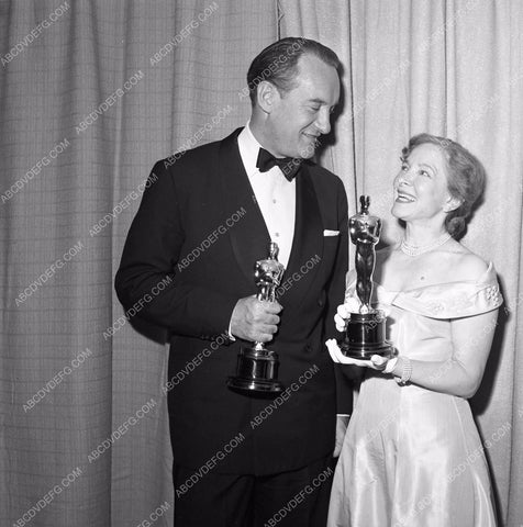 1949 Oscars George Sanders and someone Academy Awards aa1949-75</br>Los Angeles Newspaper press pit reprints from original 4x5 negatives for Academy Awards.